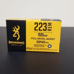 223 REM 55gr FMJ Brass Cased Centerfire, 20/Box